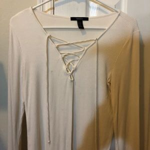 Forever 21 Tie Front Shirt